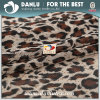 Elastic Knitted Fabric with Leopard Printed