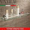 1200 Bathroom Glass Shelf with Chrome Plate Brass Bracket