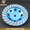 Turbo Diamond Cup Wheel, Diamond Cutting Wheel for Stone Concrete Grinding (S-DCW-1011)