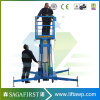 4m-12m Aluminum Alloy One Mast Lift Aerial Work Platform