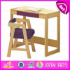 2015 Cheap Wooden Table and Chair, Kids Study Table Chair Set, School Wooden Table and Chair for Kids W08g157c