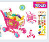 2 Colors Plastic Trolley Toy for 15th Educational Shopping