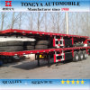 Flat Bed Semi Trailer/3 Axle Semi Trailer/Tri-Axle Flatbed Container Semi Trailer