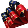 Wholesale Custom Hot Stamping Gold Foil Printed Satin Ribbon