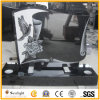 Modern Tombstone Designs, Shanxi Black Pigeon Carved Sculpture Monument/Headstone and Tombstone