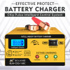 Portable Intelligent Automatic 6 V/12 V Battery Charger for Car