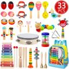 Hot Selling Kids Musical Instruments Toy Set Wooden Instruments Preschool Educational Learning Music Toys with Storage Backpack Bag