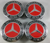 Wheel Center Caps Emblem Hubcap for Mercedes Benz Red