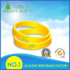Customized Brand Silicon Wristband in Yellow Color
