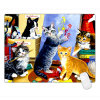 Cat Laptop Computer PC Keyboard Rubber Mat Mouse Pad