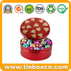 Cylindrical Chocolate Tins with Handle for Metal Gift Tin Boxes