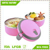 Round Shape Stainless Steel Bento Lunch Box for Kids Food Container Food Box Lunchbox with Handle 1.4L Portable