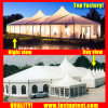 Solid Wall High Peak Mixed Marquee Tent for New Product Show for 200 People Seater Guest