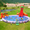 30m Giant Inflatable Water Park with Pool Slide for Land