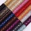 Mesh Fabric Glitter PU Leather for Shoes or Bags (HS-M260)