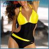 Contrast Color Lycra Fashion Bikini Swimwear Swimsuit