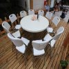 Six Feet Folding in Half Plastic Round Banquet Dining Table