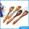 Wooden Spoon Set - 4 Wooden Spoons and Spatula Cooking Utensils