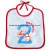 Factory Produce Customized Logo Printed White Cotton Terry Baby Bibs