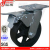 "4""X2"" Inch Total Brake Cast Iron Wheel Caster"