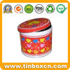 Metal Round Container for Gift Tin Box Packaging, Round Can