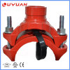 UL Listed, FM Approval Ductile Iron Grooved Mechanical Tee 2 1/2''x 1 1/4''