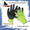 Safety Glove, 13G Hppe Safety PU Coated Cut Resistant Glove Level Grade 3