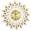 Luxury Peacock Wall Clock Beautiful Metal Unique Wall Mounted Clock