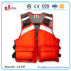 Orange Color Mesh Upper Fabric Foam Life Vest for Fisherman