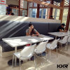 Wholesale Solid Surface Square Restaurant Coffee Table with Chair