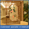Modern Design Golden Flower Stainless Room Divider Screen for Restaurant