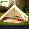 6m Bell Tent Zipped in Groundsheet by Life Under Canvas. 100% Cotton Canvas. Large Family Tent. Bell Tent for Camping. Excellent Value Camping Tent