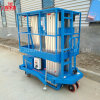 10m 200kg Hydraulic Mobile Double Mast Aluminum Alloy Aerial Work Lift Platform