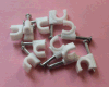 Round Cable Clip Plastic C Shape Nail Cable Clip