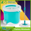 Green Round Bucket Floor Cleaning Squeeze Spin Mop
