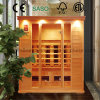 4 People Use Dry Sauna Made of Hemlock Solid Wood for Indoor Use, Far Infrared Sauna Room as Health Beauty Equipment