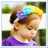 Artificial Flower Baby Hair Accessories Headbands Chiffon Elastic Hairband for Toddlers Girls
