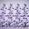3D Purple Flower Fabric Embroidery Mesh Bridal Lace