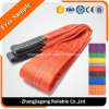 Double Ply Synthetic Polyester Flat Webbing Sling with Lifting Loops