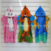 Printed Kid Hooded Terry Velour Cotton Beach Towel