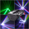 CREE 8*10W RGBW LED Sweeper Spider Beam Disco DJ Club Light