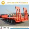 Goose Neck Container Trailer 4 Axle 80 Ton Lowbed Trailer Semi Trailer for Sale