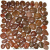 Red Pebble Mosaic Tile Pebble Decoration Wall Tile