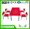 Metal Frame Children Wooden Table Set for Sell (SF-19C)