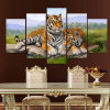 5 Panel Modern Printed Painting Tiger Canvas Painting Cuadros Picture Animal Landscape Oil Paintings for Living Room