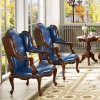 Classic Outdoor Furniture with Leisure Table and Leather Sofa Chair