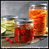 Set Glass Straight Jar for Fruit Storage