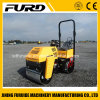 Good Quality 1000kg Small Hydraulic Double Drum Vibratory Earth Compactor