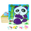Factory Direct Hot 3D DIY Chindlren Cartoon Wooden Frame Puzzle Educational Toys Panda