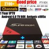 IPTV Box E8 S905X with 2700 Channels Arabic Brazil TV Latino Europe Turkish French IPTV Kd 17.3 Free IPTV H. 265 4K*2K Video